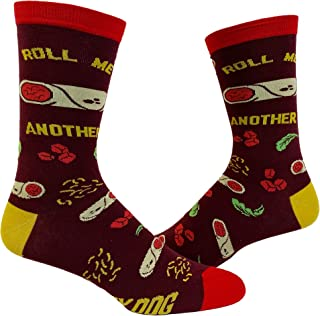 Roll Me Another Burrito Socks Funny Mexican Food Guac Sarcastic Novelty Footwear