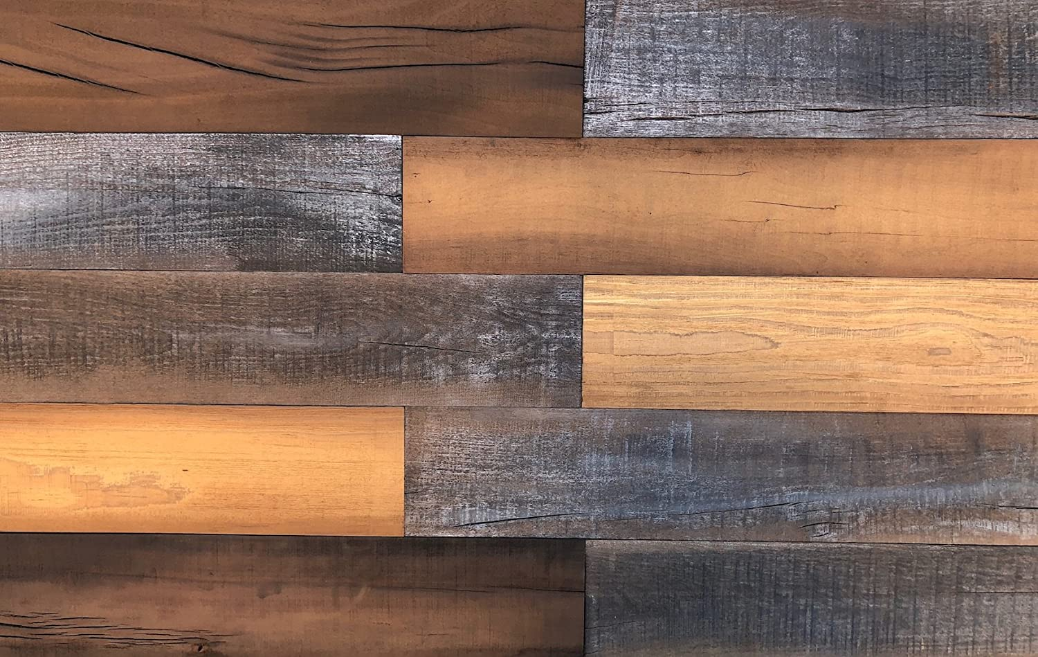 Smart Paneling 11232 Antique Mix Accent Wall Wood Planks, 12 Piece