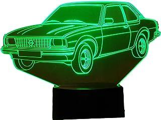 OPEL ASCONA, Lampada illusione 3D con LED - 7 colori.
