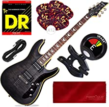 Schecter OMEN EXTREME-6 Electric Guitar (STBLK) + Tuner and Basic Accessory Bundle