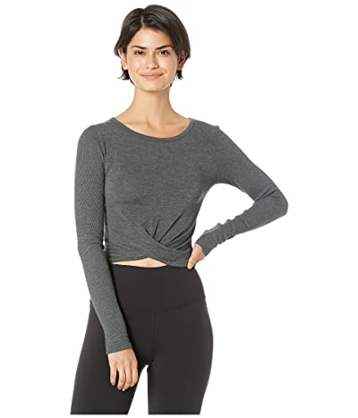 ALO Cover Long Sleeve Top (Anthracite) Women