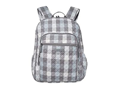 Vera Bradley Iconic Campus Backpack (Neutral Buffalo Check) Backpack Bags