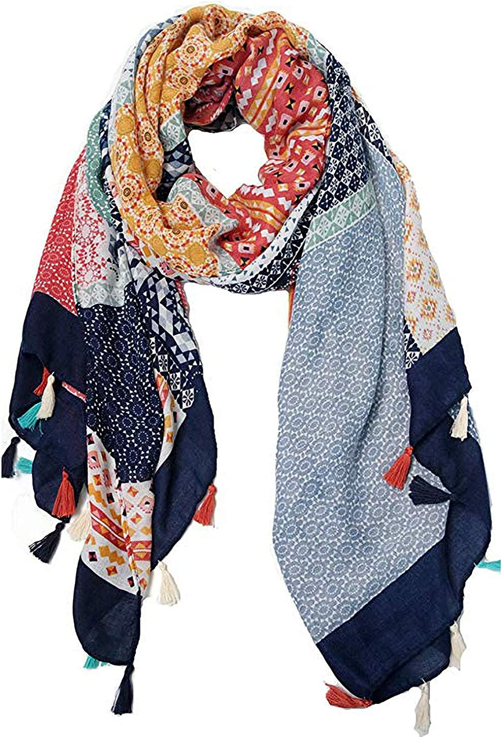 Scarves for Women Large Lightweight Floral Flower Spring Scarf Fashion Wrap Shawls Oversized Shawl Cape by AHYUAN