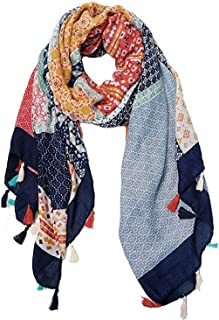 Women Large Scarf Soft Scarves and Wraps Floral Flower Fashion Scarf Wraps and Pashminas Shawls Scarf for Fall Autumn (Col...