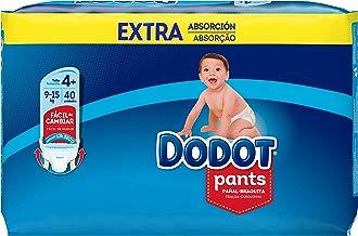 Dodot Pants Extra Pañales, Talla 4 (9-15 kg) - 1 x 40 Pañales