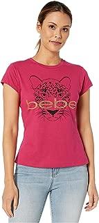 Leopard Graphic Cotton Tee Sangria XL