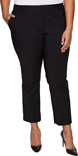 Plus Size Front Zip Ankle Pants