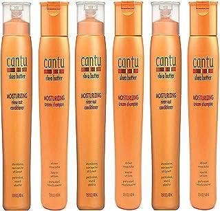 Cantu Moisturizing Cream Shampoo 13.5 oz & Moisturizing Rinse Out Conditioner 13.5 oz (3SET=6PCS)