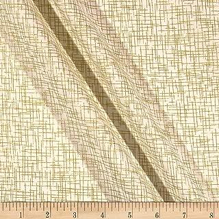 Patrick Lose Fabrics Patrick Lose Studio Santa's Stash Sackcloth Fabric, Metallic Gold, Fabric By The Yard