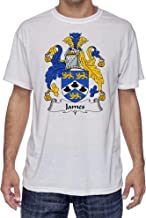 James Coat of Arms-Family Crest, Moister Wicking Sports T-Shirt