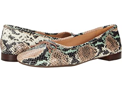 Madewell Maria Ballet Flat (Muted Shell Multi Snake Embossed Leather) Women