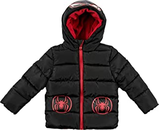 Spiderman Boys Toddler Character Puffer Jacket, Charcoal Grey