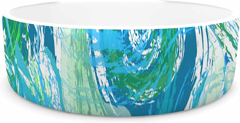 KESS InHouse Alison Coxon Sophia bluee  Green bluee Pet Bowl, 7