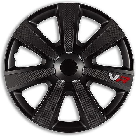 4x Radkappen 15 Zoll Vr Pro Carbon Black Schwarz Radzierblenden Auto
