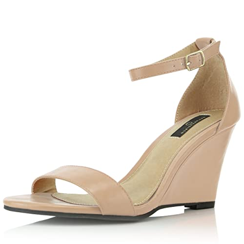 89146a221ce DailyShoes Women s Ankle Open Toe Wedge Fashion Shoes
