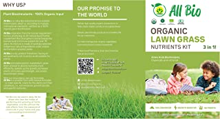 ALL BIO - Organic Plant Food Starter Kit - Lawn Grass Plant Nutrients Kit/Lawn Booster & Lawn Care/Safe for Family and PE...