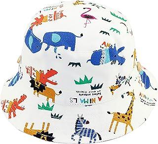 Bebé Sombrero para el Sol Niños Niñas Sombrero de Pescador Algodón Gorro Verano Primavera Protección UV Motivo Animal, Cir...