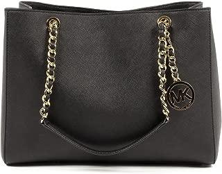 MICHAEL Michael Kors Susannah Large Tote Satchel Leather Handbag