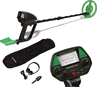 TREASURE COVE 1018 Metal Detector Kit - Easy to Use & Operate for Kids & adult Beginners, Waterproof Coil, ACCESSORIES Bag, Shovel & Headphones, Adjustable Height & Volume, High Accuracy, Portable