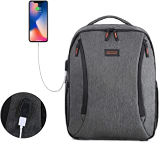 mommore Diaper Bag Backpack Travel Baby Nappy Backpack with Insulated Pocket, Changing Pad, Built-in USB Charging Port, Black
