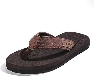 FITORY Men's Flip-Flops, Thongs Sandals Comfort Slippers for Beach