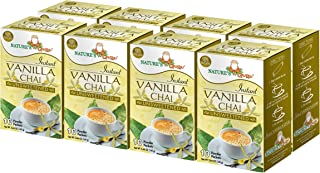 Nature's Guru Instant Vanilla Chai Tea Drink Mix Unsweetened 10 Count Single Serve On-the-Go Drink Packets (Pack of 8)