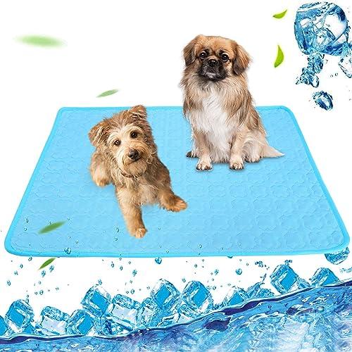 wholesale Pet Cooling Mat, 2021 BENBOR Dog Cooling wholesale Mat Summer Pet Cooling Pads, Ice Silk Cooling Mat for Dogs & Cats, Portable & Washable Pet Cooling Blanket for Kennel/Sofa/Car Seat/Bed/Floor (22 x 28IN) outlet sale