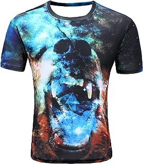 Letuwj Men`s 3D Printed Tee Short Sleeve T-Shirt