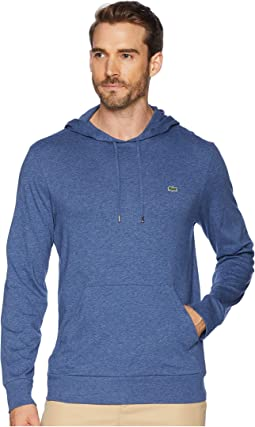 Long Sleeve Hoodie Jersey T-Shirt w/ Central Pocket