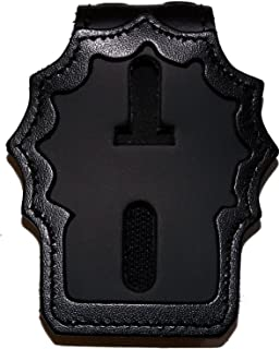 Perfect Fit Belt Clip Badge Holder with Pocket and Chain for NY City Police Detective (Cutout PF225)