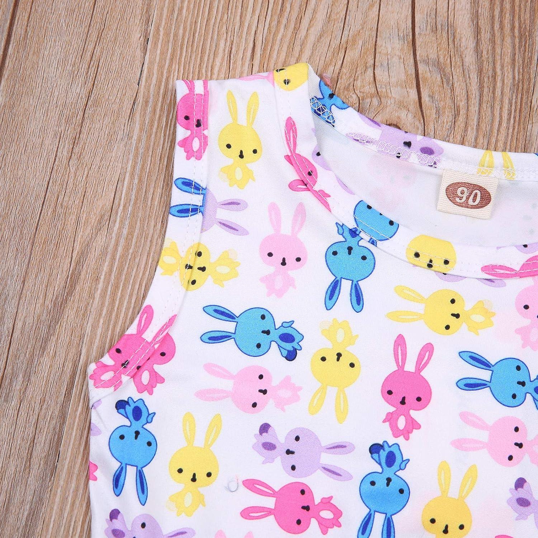Toddler Baby Girl Easter Clothes Sleeveless Rabbit Tutu Tulle ...