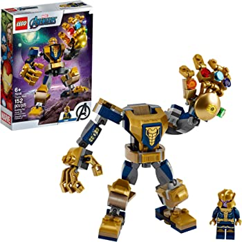 LEGO Marvel Avengers Thanos Mech 76141 Cool Action Building Toy for Kids with Mech Figure Thanos Minifigure, New 2020 (152 Pieces)