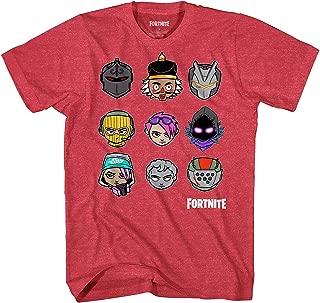 Fortnite Shirt Men's Chibi Character Heads Officially Licensed Adult T-Shirt