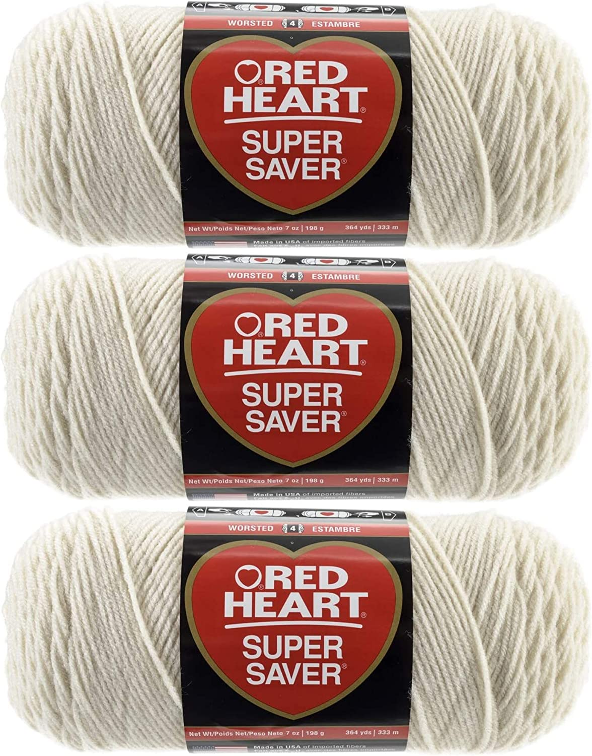 Red Heart Bulk Limited time trial price Buy Colorado Springs Mall Super 3-Pack Yarn E300-313 Aran Saver