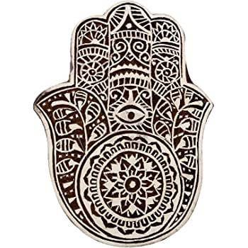 Decorative Printing Blocks Wooden Textile Stamps Indian Brown Pottery Stamps