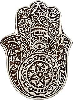 Decorative Block Stamp Indian Wooden Brown Textile Stamps Wood Printing Block