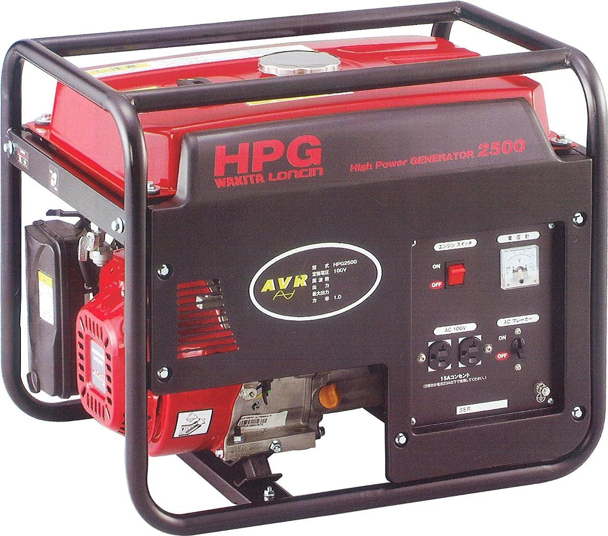 一致する分グリルワキタ MEIHO エンジン式発電機 60Hz HPG2500-6