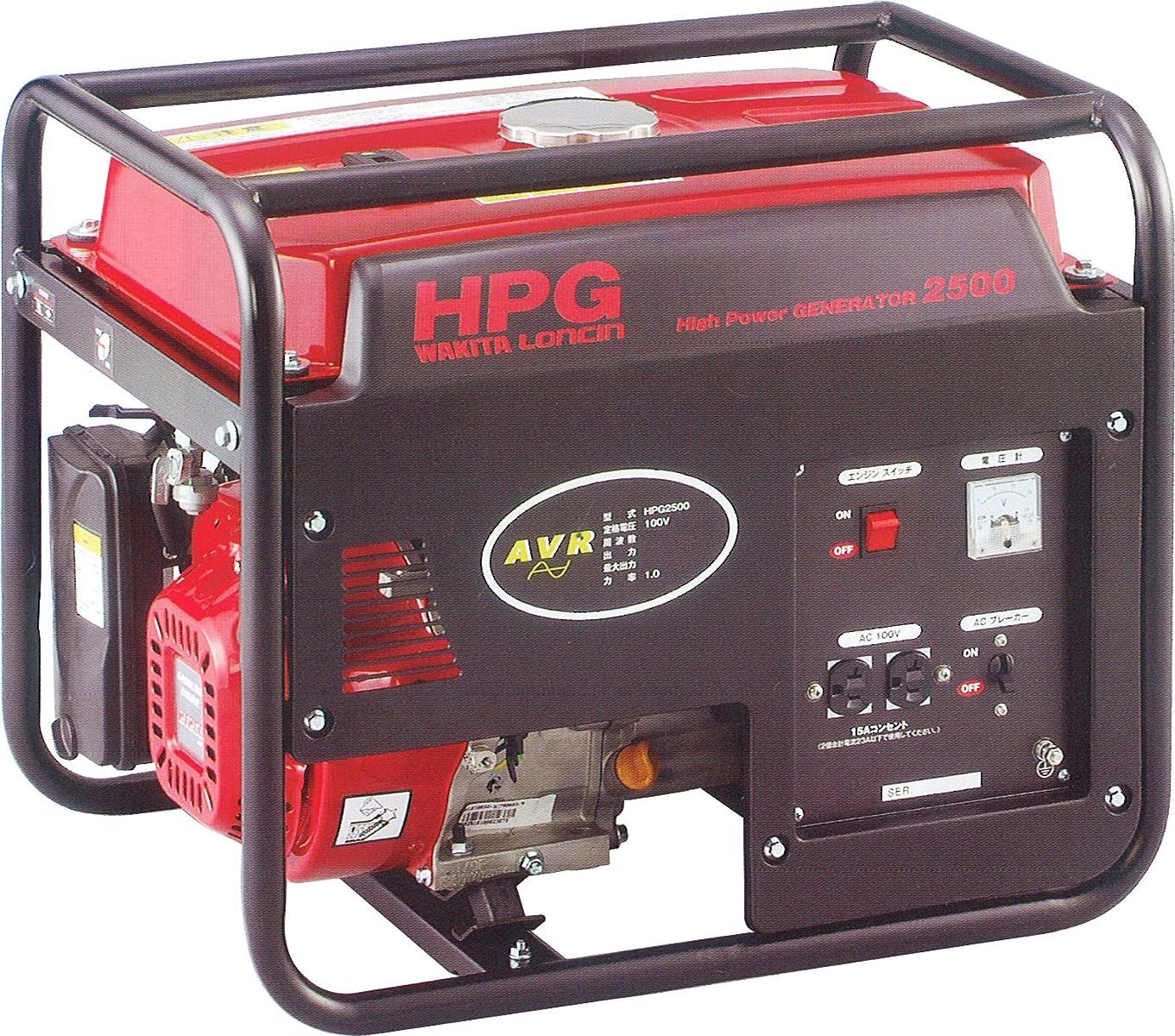 前投薬安全性著者ワキタ MEIHO エンジン式発電機 50Hz HPG2500-5