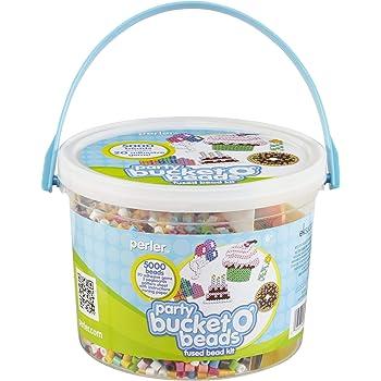 Perler Beads Birthday Party Fuse Bead Bucket Craft Activity Kit, 5025 pcs