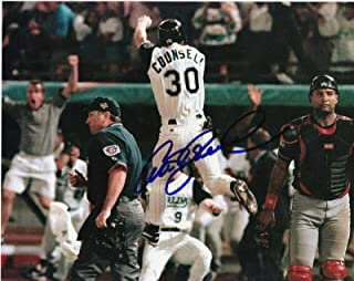 Craig Counsell Autographed Photograph - 1997 WORLD SERIES WINNING RUN 8x10 - Autographed MLB Photos