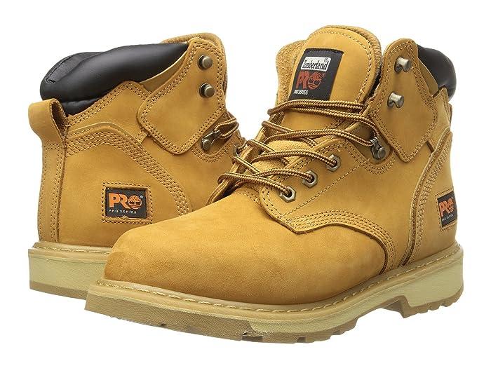 Timberland PRO  6 Pit Boss Soft Toe (Wheat Nubuck Leather) Mens Work Lace-up Boots