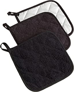 DII 100% Cotton, Quilted Terry Oven Set Machine Washable, Heat Resistant with Hanging..