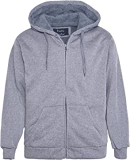 f67358695ba Erin Garments Heavyweight Sherpa Lined Fleece Hoodie Sweatshirts for Men  Winter Full Zip Plus Size Long