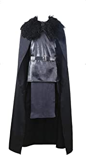 Game of Thrones Jon Snow The Night Watch Costume Halloween Party Whole Set