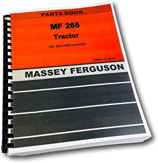 Massey Ferguson 265 Tractor Parts Catalog Manual Gas Diesel Before SN-9A349200