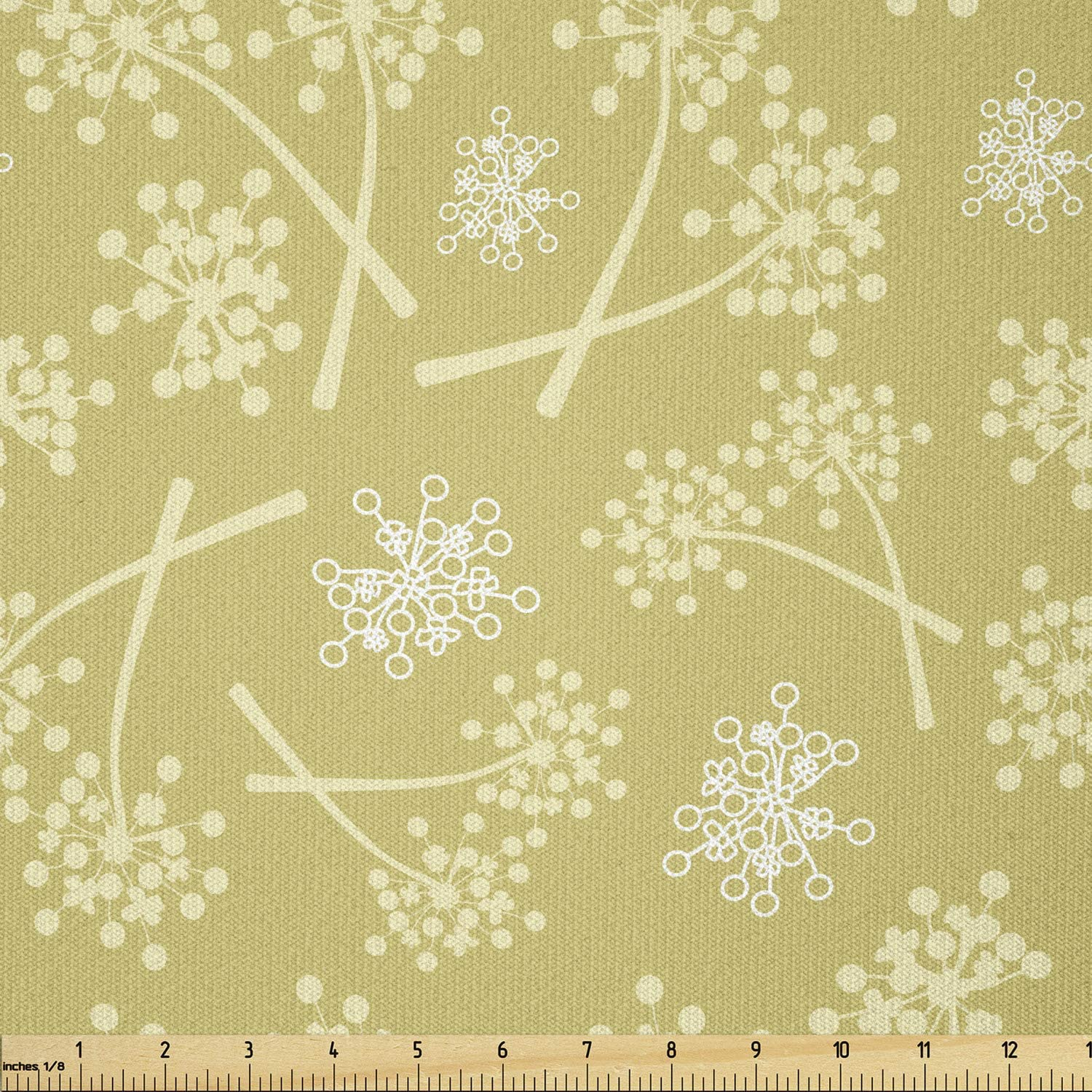 store Ambesonne Botanical Fabric by The Rural Flow Yard Opening large release sale Retro Concept