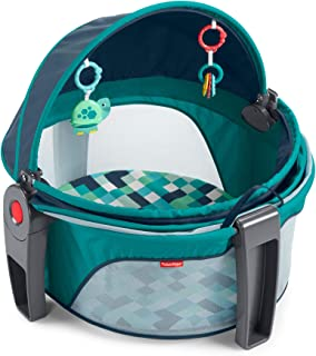 Fisher-Price On-The-Go Baby Dome – Pixel Forest, Portable Infant Play Space, Multi