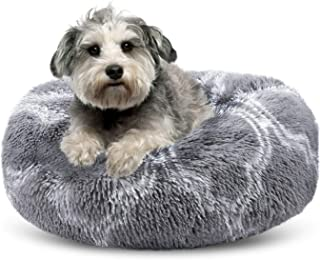 Sponsored Ad - SHU UFANRO Dog Bed Comfortable Oval Dog Beds for Small Medium Large Dogs Calming Self Warming Washable Orth...