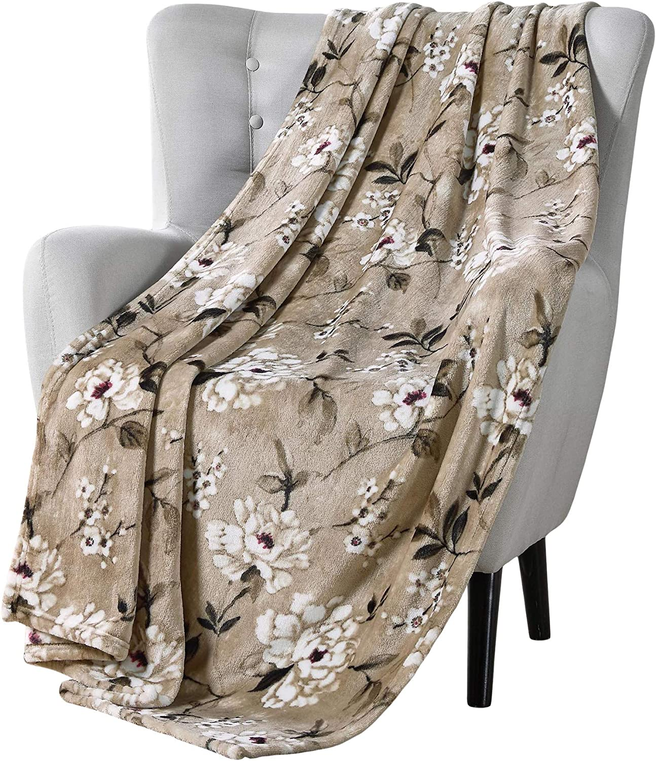 At the price of surprise Over item handling VCNY Decorative Throw Blanket: Cherry Design for Blossom Accent