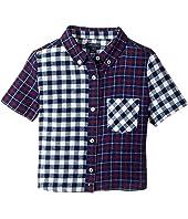 Tommy Hilfiger Kids - Mix Plaid Short Sleeve Shirt (Big Kids)